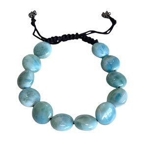 new Marahlago ꕥ Larimar Crystal Beach Bracelet ꕥ